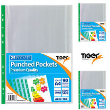 100 x Texet Premium Quality A4 Extra Capacity Clear Punched Pockets PPA4PK100