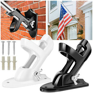 Flag-Pole-Bracket-2-Position-1-039-039-Diameter-Wall-Mounted-Metal-Holder-Home-Outdoor