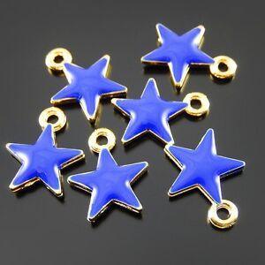 Wholesale-30pcs-Enamel-Alloy-Mini-Star-Shape-Charms-Necklace-Pendant-Findings