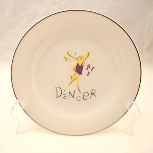 Pottery-Barn-REINDEER-Salad-Plate-s-039-Dancer-039-8-1-2-034-EXCELLENT