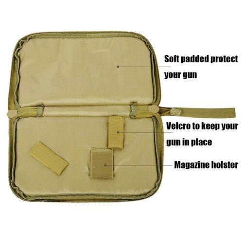 Tactical Pistol Carry Bag Portable Holster hunt Handgun carrier Pouch Soft Case