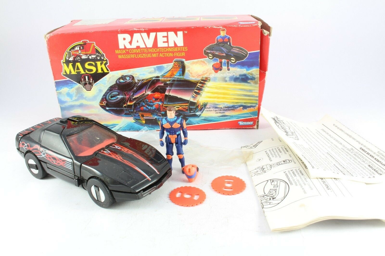 1986 Kenner M.A.S.K. Mask Raven Calhoun Burns Complete Boxed Fantastic Condition