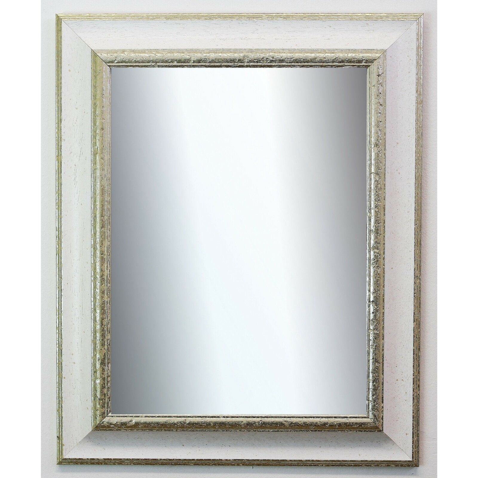 Badspiegel Weiß Silber Acta Antik 6,7 - NEU alle Größen
