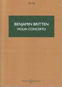 Britten Concerto Pour Violon Op 15 Hps768 Poche Score-afficher Le Titre D'origine RéTréCissable