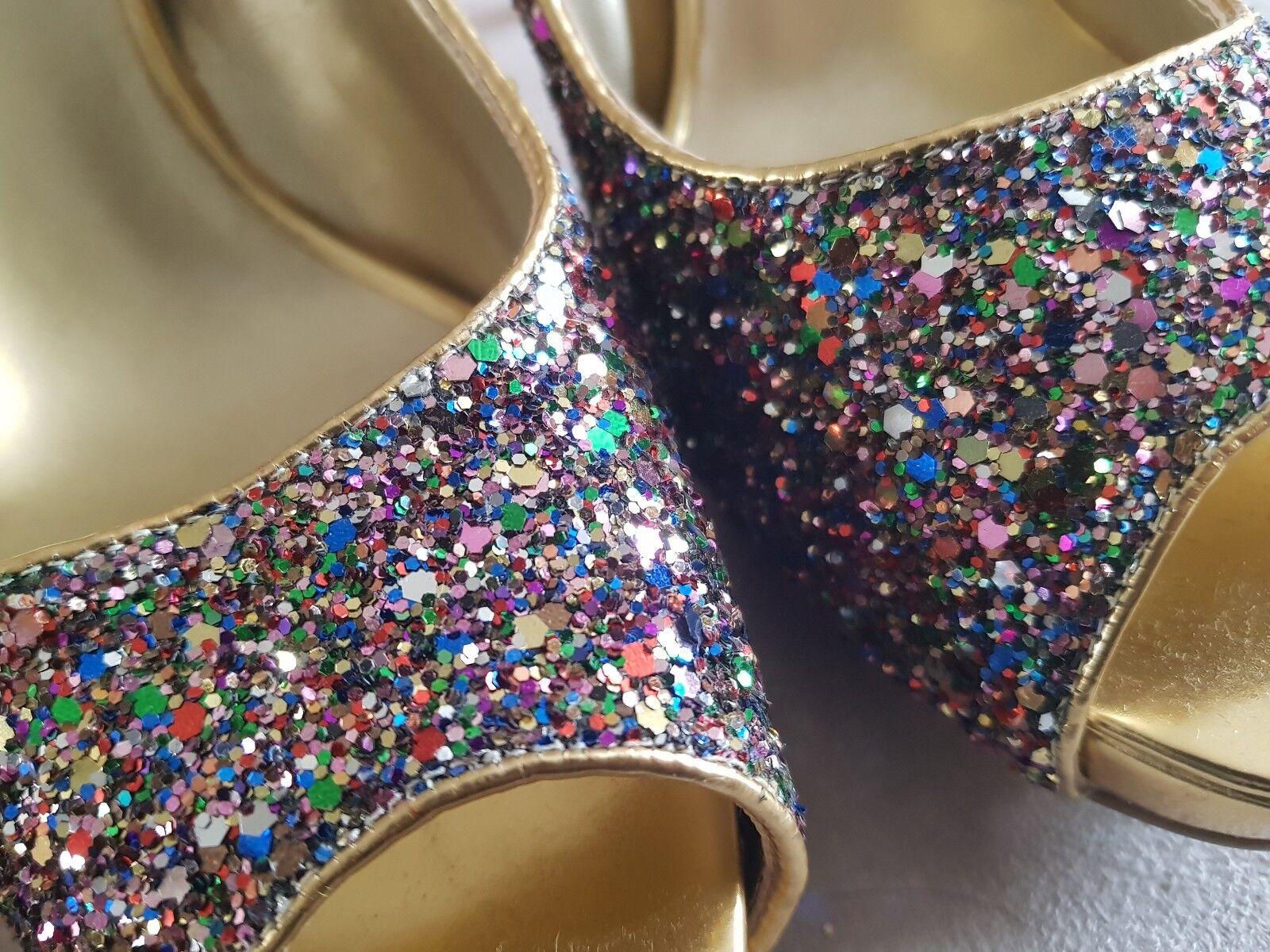 Brand New Nine West West West Multicoloured Glitter shoes UK6 EU39 US8M dfcfd4