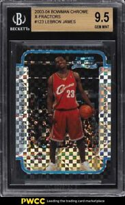 2003 Bowman Chrome Xfractor LeBron James ROOKIE RC /150 #123 BGS 9.5 GEM MINT