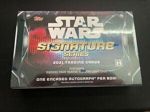 STAR WARS Topps Signature Series HOBBY BOX 2021 Sealed One Auto Per Box!