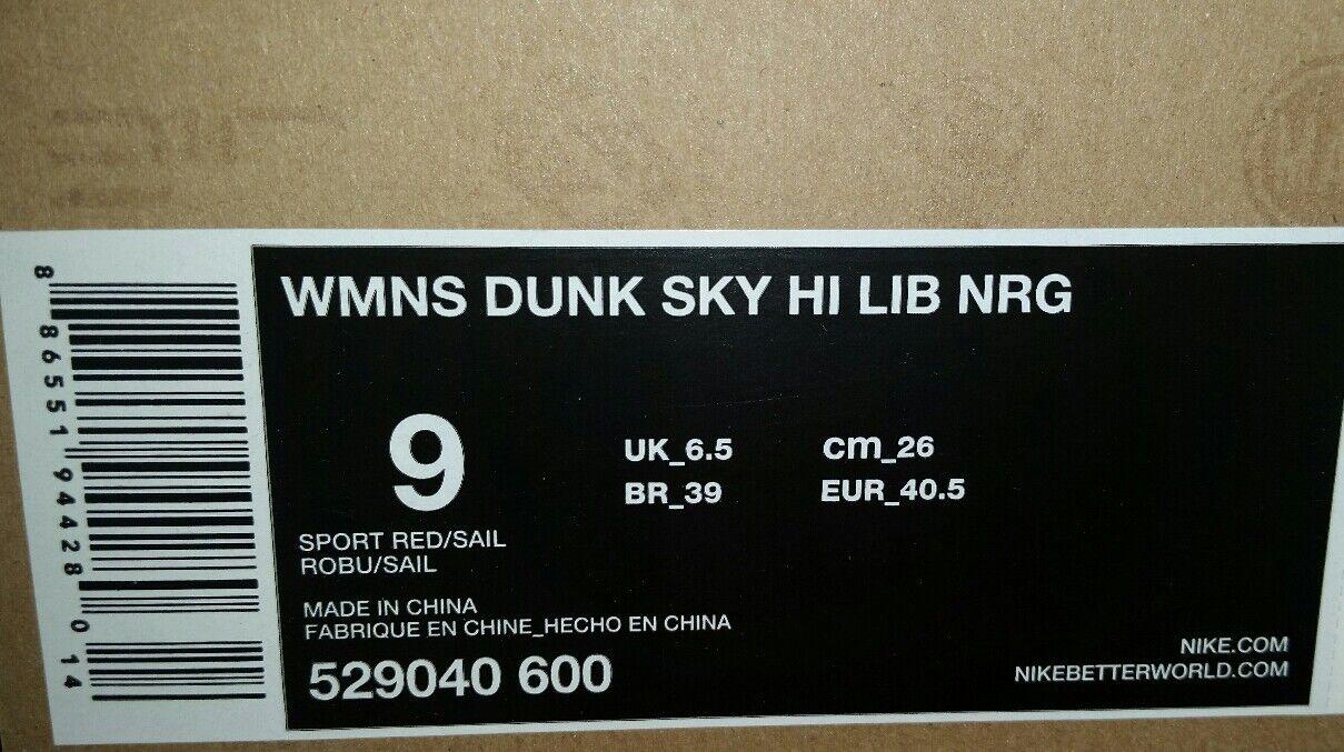 nike dunk hi - nrg liberty london sky lib frauen neue uns 9 red 529040-600 neue frauen selten 86a317