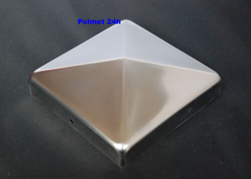 Abdeckkappe 120 x120 mm Pfostenkappe Pyramide  aus Edelstahl Pfostenabdeckung