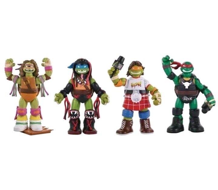 Lot de 4 TNMT Teenage Mutant  Ninja Turtles Superstars Series 2  offrant 100%
