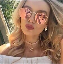 ROSE GOLD PINK ROUND SUNGLASSES MARBS KYLIE IBIZA 2017 !!  ** FREE CASE **   G