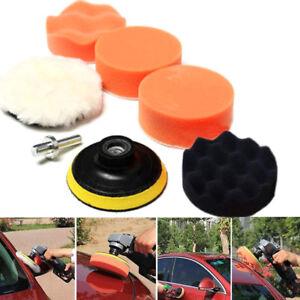 Kit-7pcs-Eponge-Pads-Tampon-Polissage-Ponceuse-Lavable-Nettoyage-Auto-Voiture-NF