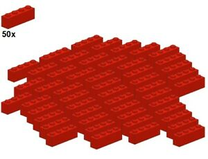 Used-LEGO-Bricks-Red-3010-01-1x4-50Stk-Stein-Rot