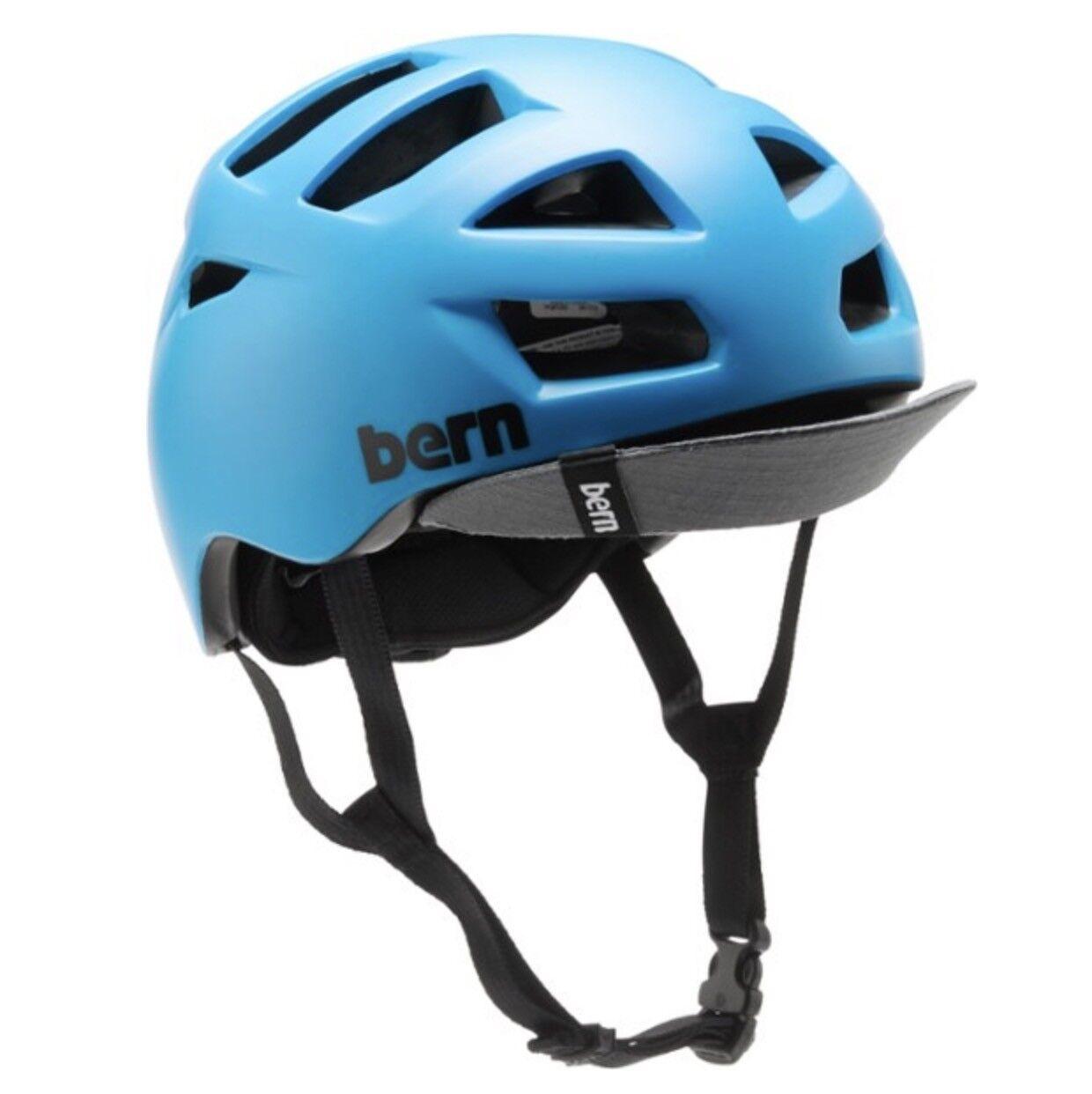 Bern Allston Zipmold Bicicletta Boa Casco Matte blue Ciano S M L Nuovi Misure