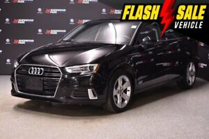 2018 Audi A3 Komfort *Leather * Clean Car Fax* Sunroof * AWD