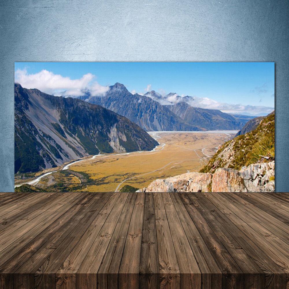 Crédence de cuisine en verre Panneau 140x70 Paysage Montagnes Vallée