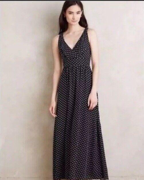Anthropologie Eva Franco Clipdot Maxi Dress 6P, 6 Petite