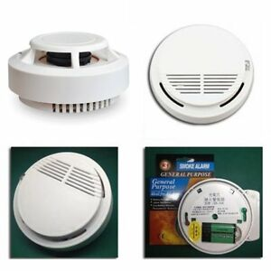 wireless smoke detectors home house security fire alarm cordless sensor system ebay. Black Bedroom Furniture Sets. Home Design Ideas