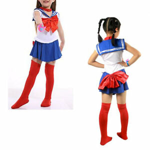 Kids Sailor Moon Cosplay Costume Anime Halloween School ...