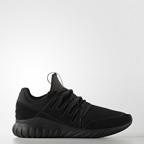 NEW MEN'S ADIDAS ORIGINALS TUBULAR RADIAL SHOES S80115 TRIPLE BLACK-GREY RUNNING