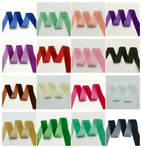 3-yards-1-034-25mm-Wide-Velvet-Ribbon-Headband-Clips-Bow-Decoration-U-Pick-color