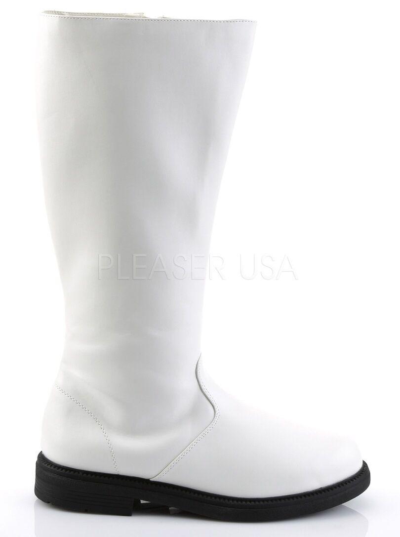 Funtasma Pirate Captain Cosplay Knee Stivali White 9 8 9 White 10 11 12 13 14 8677b2