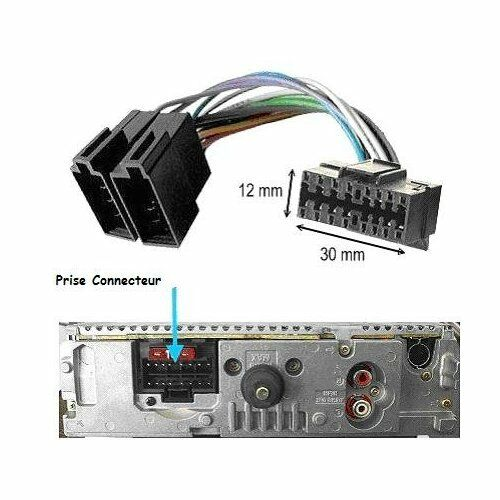 Cable Iso para Autorradio Sony Cdx-Gt100 Cdx-Gt111 Cdx-Gt121 Cdx-Gt200