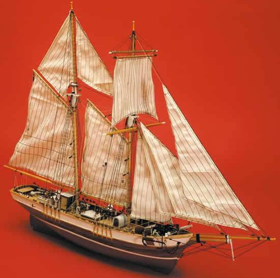 Mantua La pink. French Fishing Schooner Wooden Kit Scale 1 47