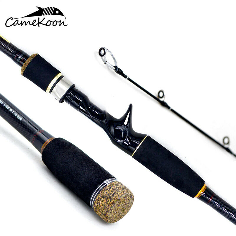 CAMEKOON Casting Fishing Rod 4-Piece Carbon Fiber Ultralight Travel Fishing Pole