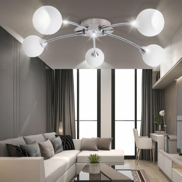 DESIGN LED Decken Lampe Leuchte Kugel Spots ALU Beleuchtung Wohn Schlaf Zimmer