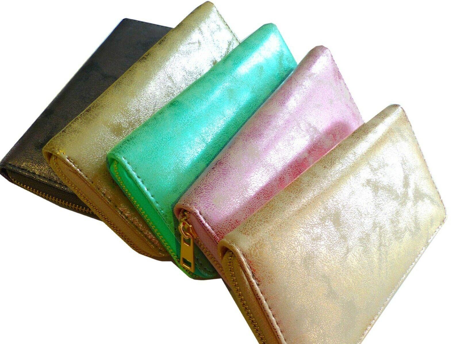 Geldbörse, Metallic Design, Portemonnaie Etui für Geld, Brieftasche, Geldbeutel