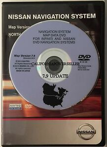 Nissan And Infiniti Navigation System Map Data Dvd Ebay