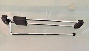 Portemanteau-Extensible-Ouvert-Acier-Chrome-30-cm-Cintre-Porte-Serviette