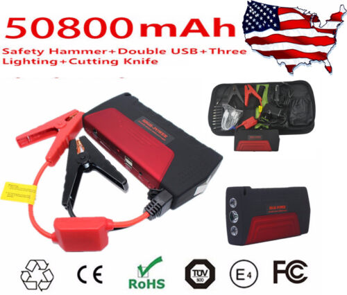 Mini 12V 50800mAh Portable Multi-Function Car Jump Starter Booster Power Battery