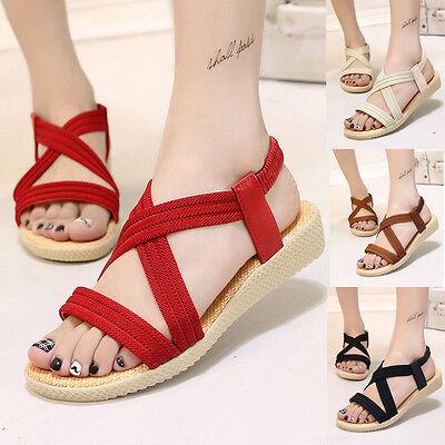 Women Flat Bandage Shoes  Bohemia Sandals Ladies Outdoor Summer Sandals