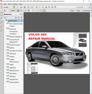 Details about Volvo S60 2001 2002 2003 2004 2005 2006 2007 2008 2009 on