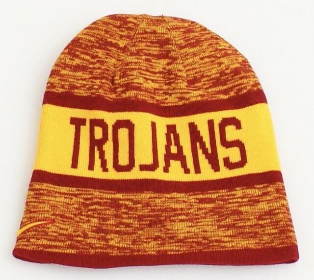 323b592fcd6 ... fowler infant toddlers size beanie white knit hat d8dd4 3499a  spain  nike reversible usc trojans cardinal gold knit beanie mens 5018c f337b