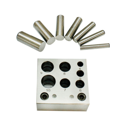 Set Of 21 Pieces Disc Cutter and Doming Set Hole Round Puncher Jewelry Tool