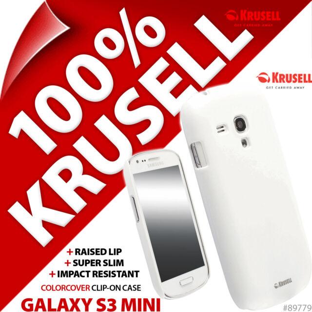 Krusell Blanc couleur couverture Coque pour Samsung i8190 Galaxy S3 Mini Housse