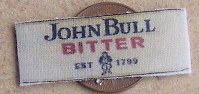 1:12 Scale Single Tumdee Dolls House Miniature John Bull Bitter Cloth Bar Towel