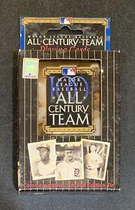Major League Baseball MLB All Century Team Playing Cards Commemorative Tin Case