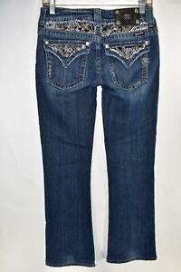 Miss-Me-Jeans-Boot-Bootcut-Cut-Size-28-Stretch-Meas-28x30-5-Flap-Pocket