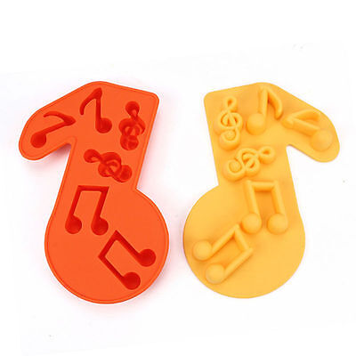 Creative Cute Music Silicone ice Cube Tray Mold Kitchen Baking Tools Cake Moulds