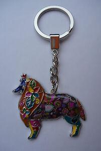 Porte-cles-chien-multicolore-Colley