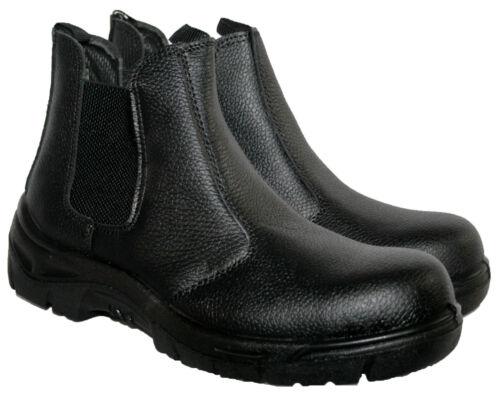 MENS COMP0SIT SLIP ON WORK BOOTS BLACK SIZES 7-11