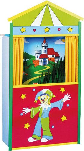 Beluga Kasperltheater aus Holz Kasperletheater Puppen Theater 120x66x31cm