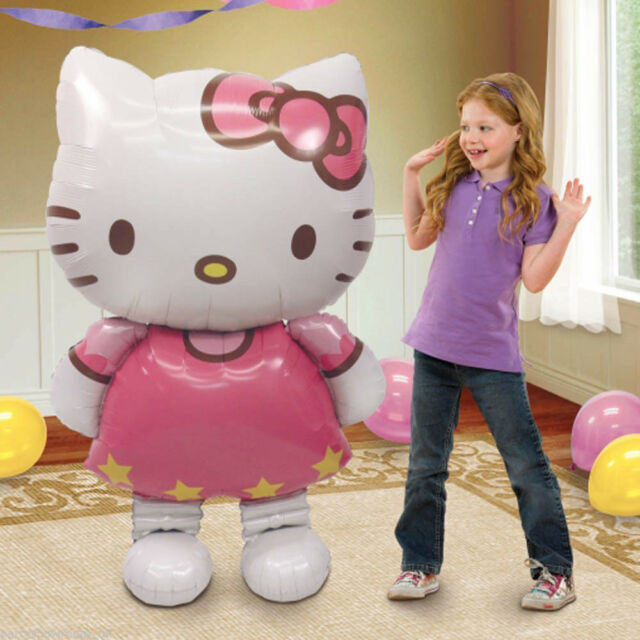 "Hello Kitty Helium Foil Balloon 46 "" BIG HUGE GIANT 115 cm X 66 cm kids Party"