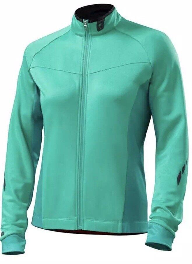 Specialized Para Mujeres Manga Larga Jersey de ciclismo de montaña Therminal Kelly verde M Nuevo