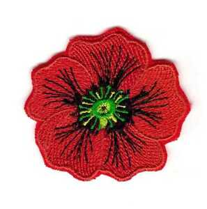 Patch Emblem Flower Red Poppy Memorial Remembrance Veterans Day Ebay