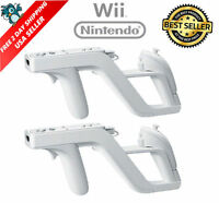 2 X Zapper Gun For Nintendo Wii Wireless Remote Controller Game Shooting -